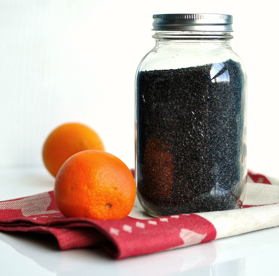 poppy seeds and orange