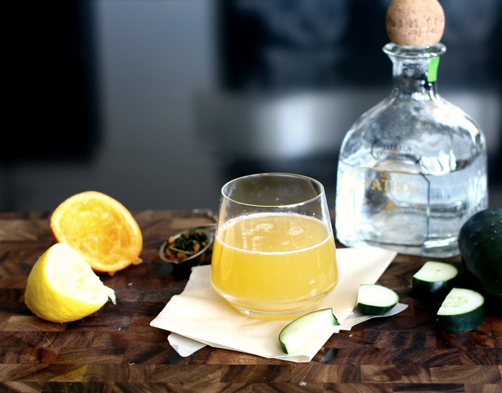 citrus green tea cocktail