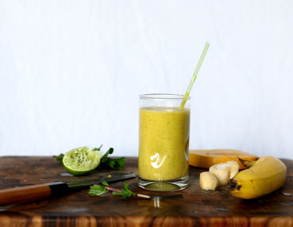 yellow tropical smoothie
