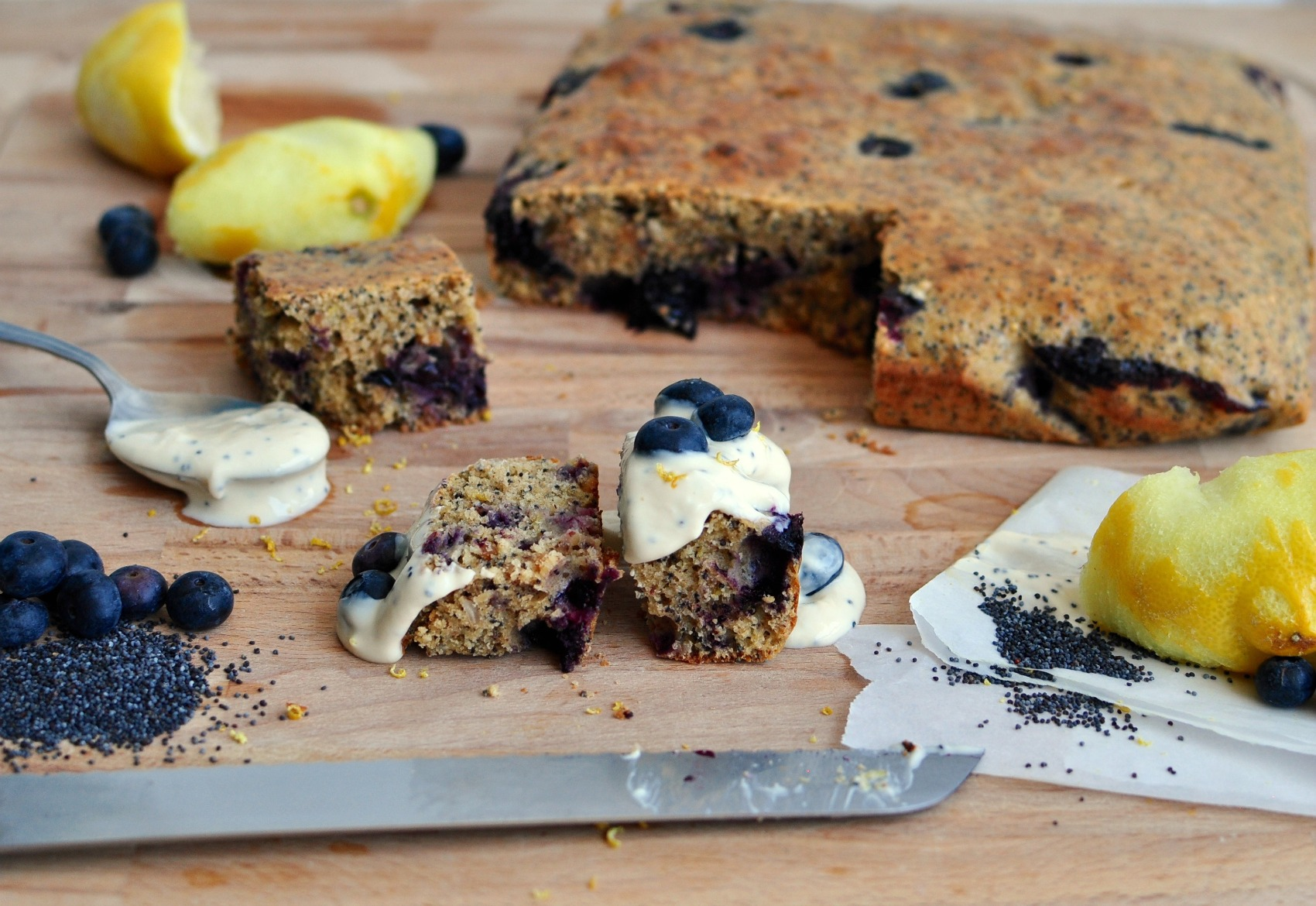 Blueberry and Lemon Cake Recipe