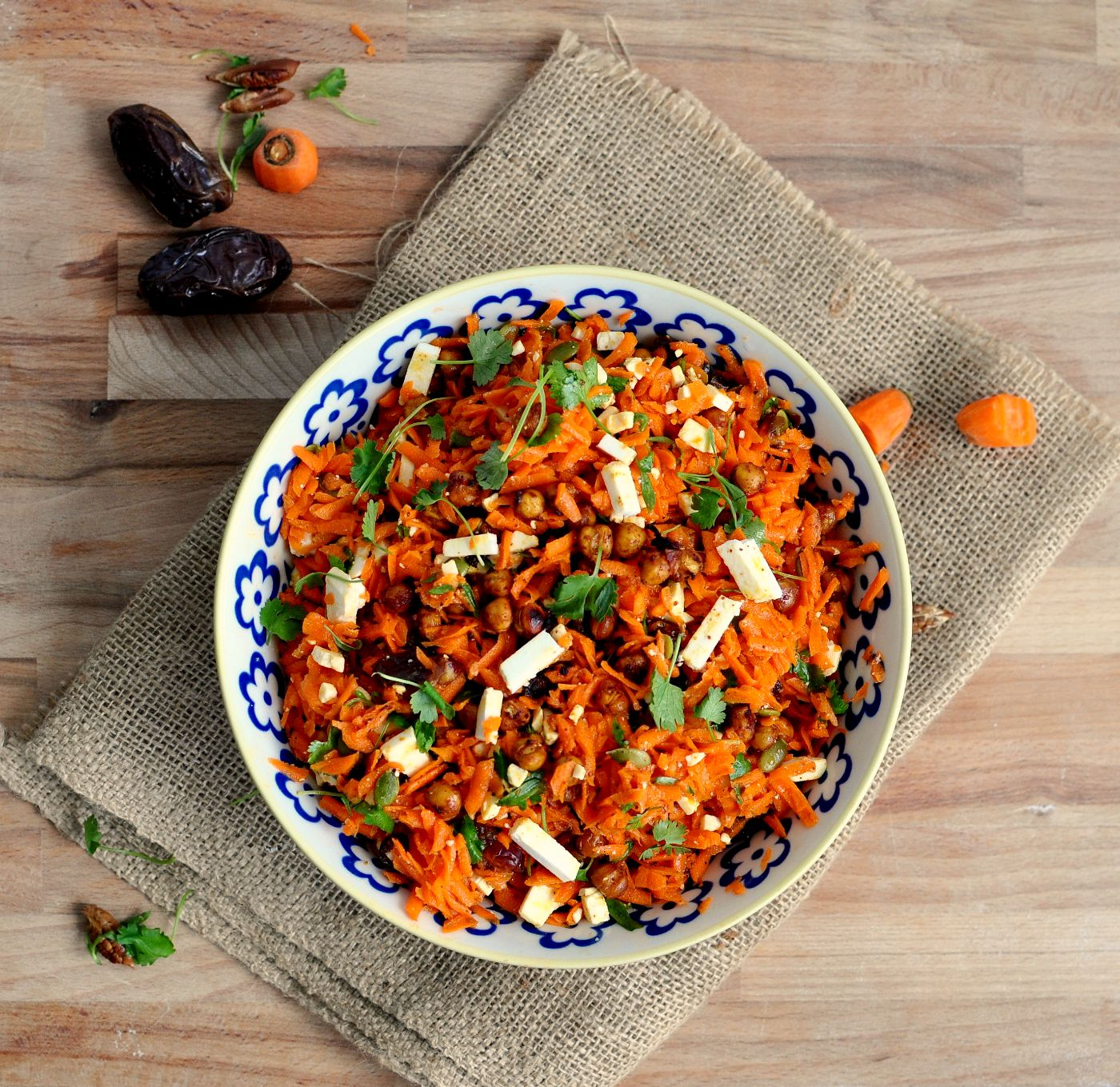 Shredded Carrot and Chickpea Salad Recipe | My Second Breakfast