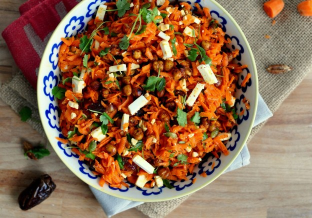 Shredded Carrot and Chickpea Salad