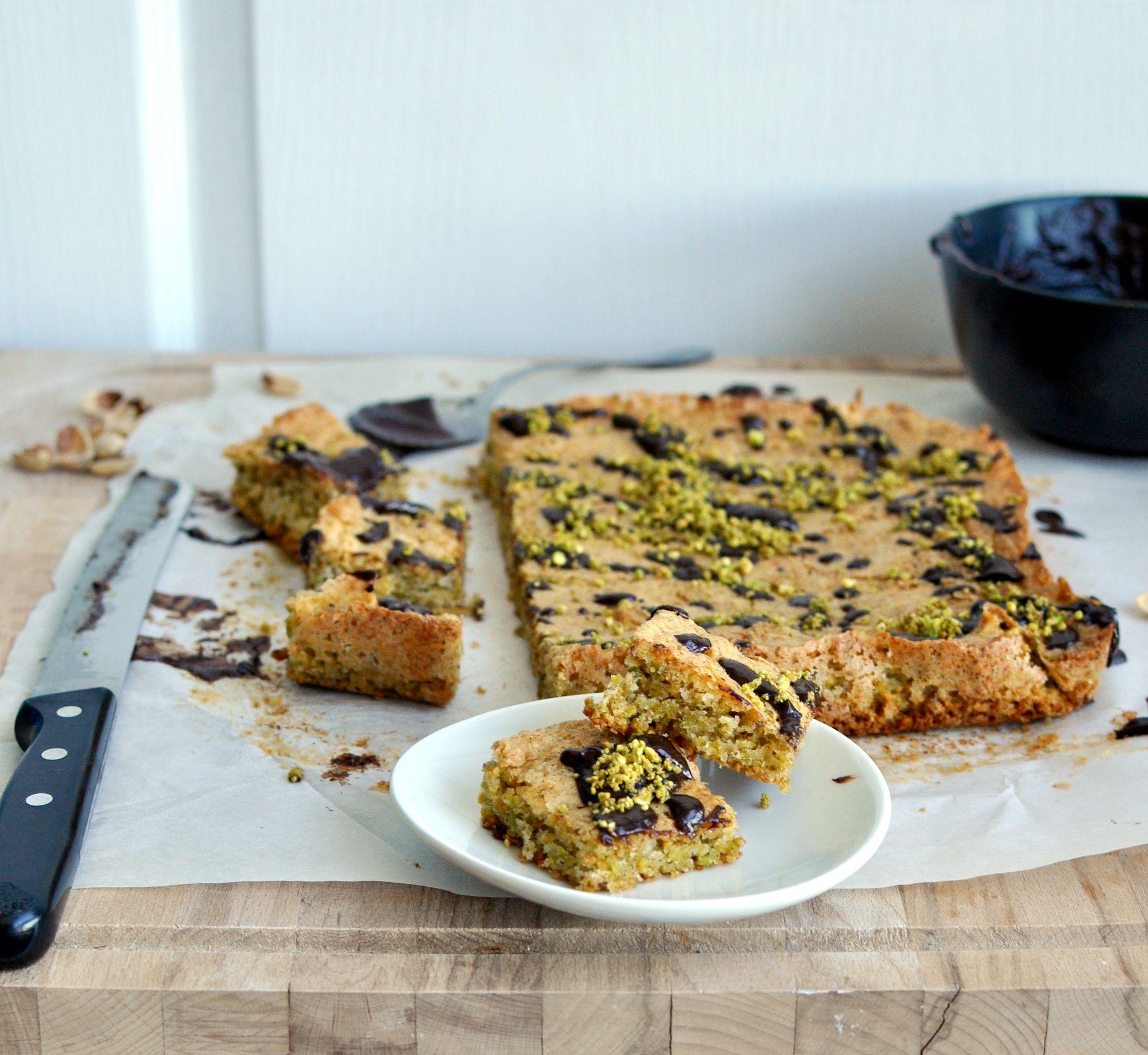 pistachio cardamom cake