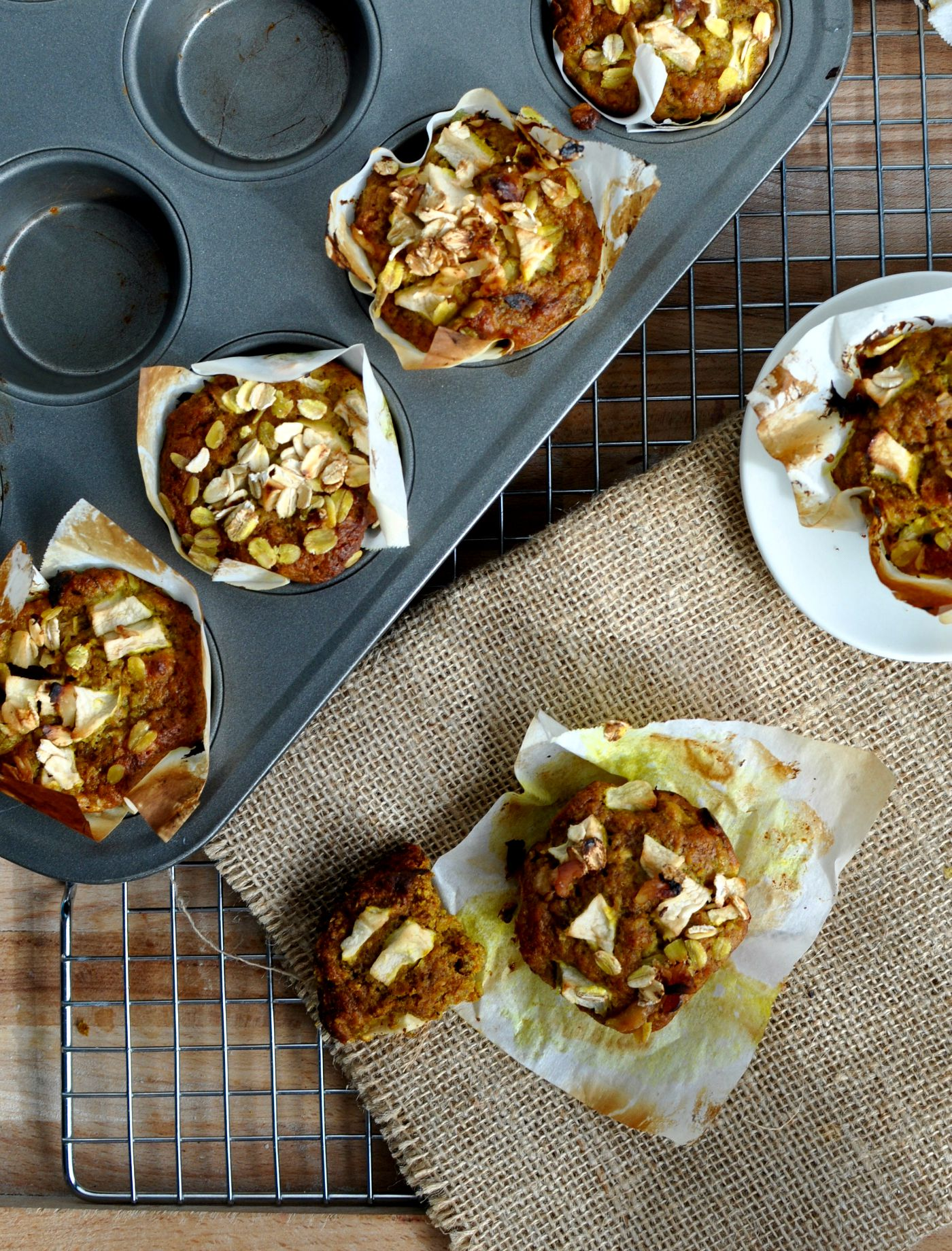 Healthy Breakfast Apple Muffins