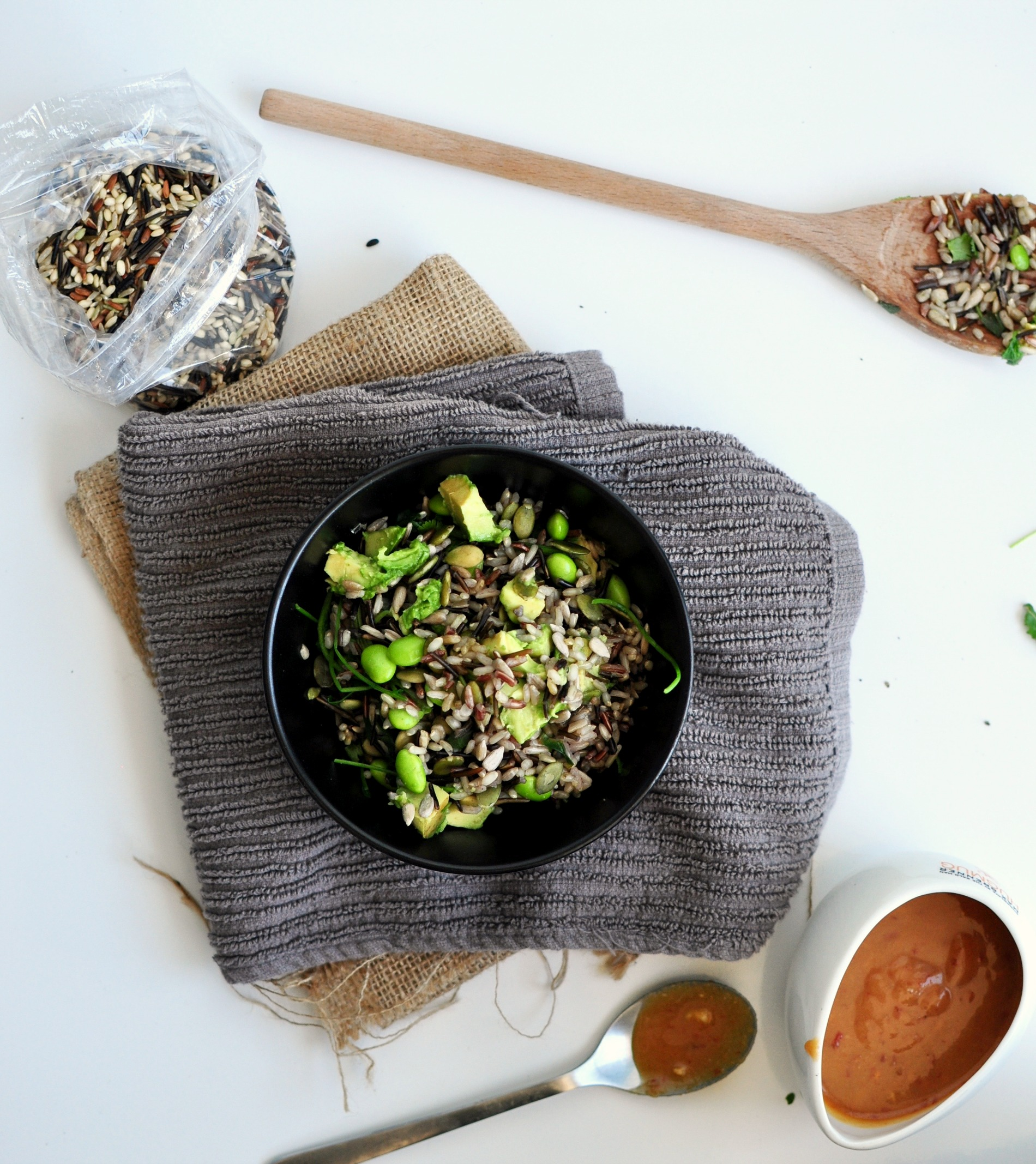 miso wild rice bowl
