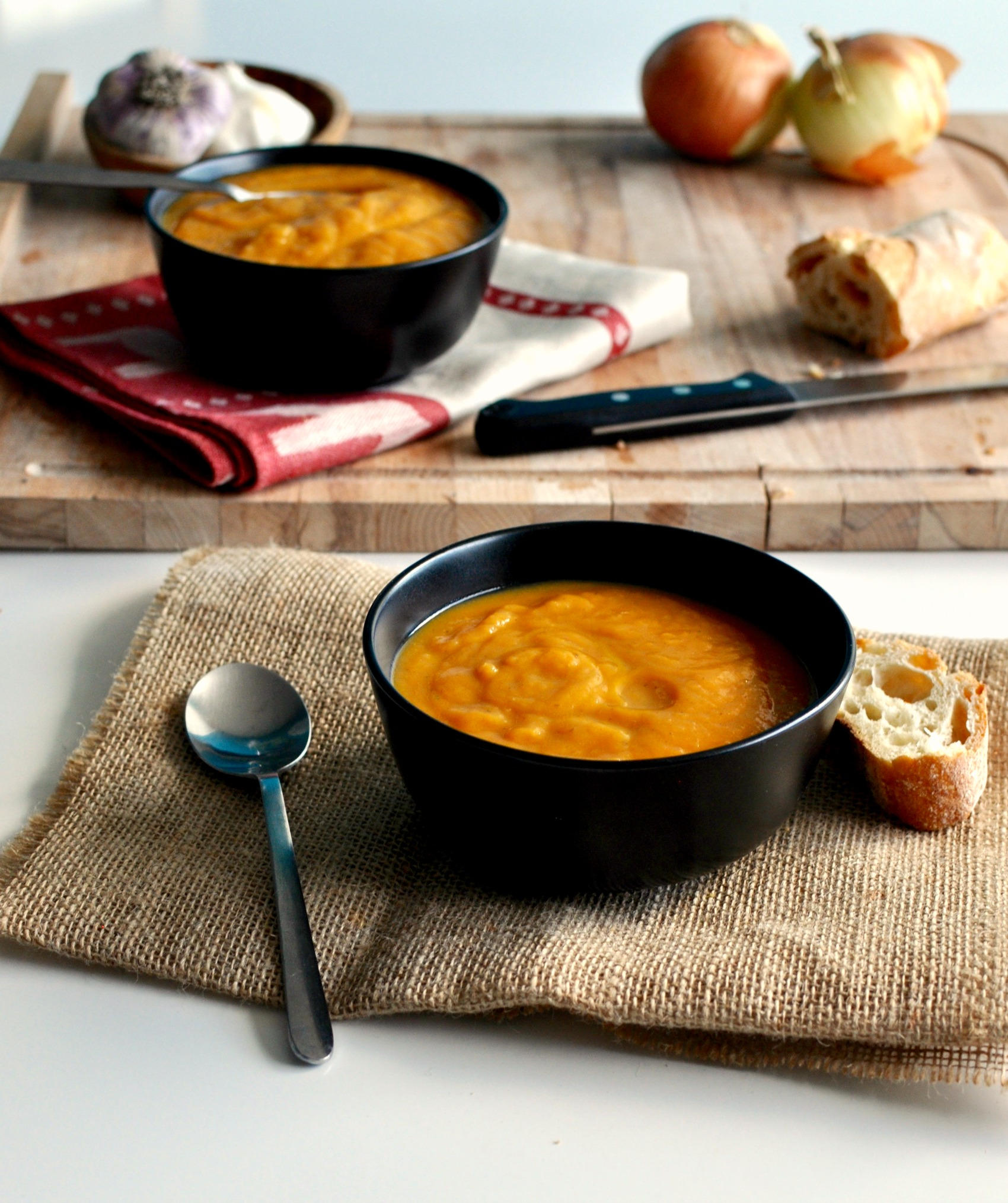 silky sweet potato soup