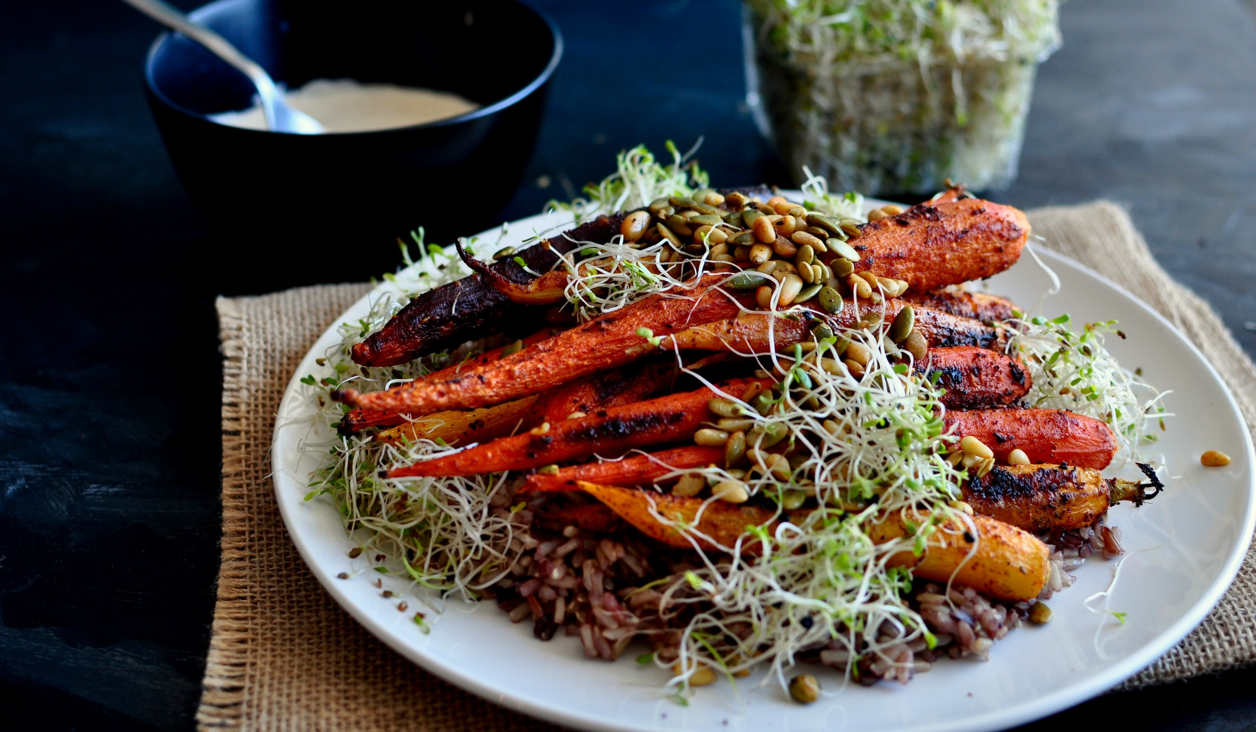 roasted spiced carrots
