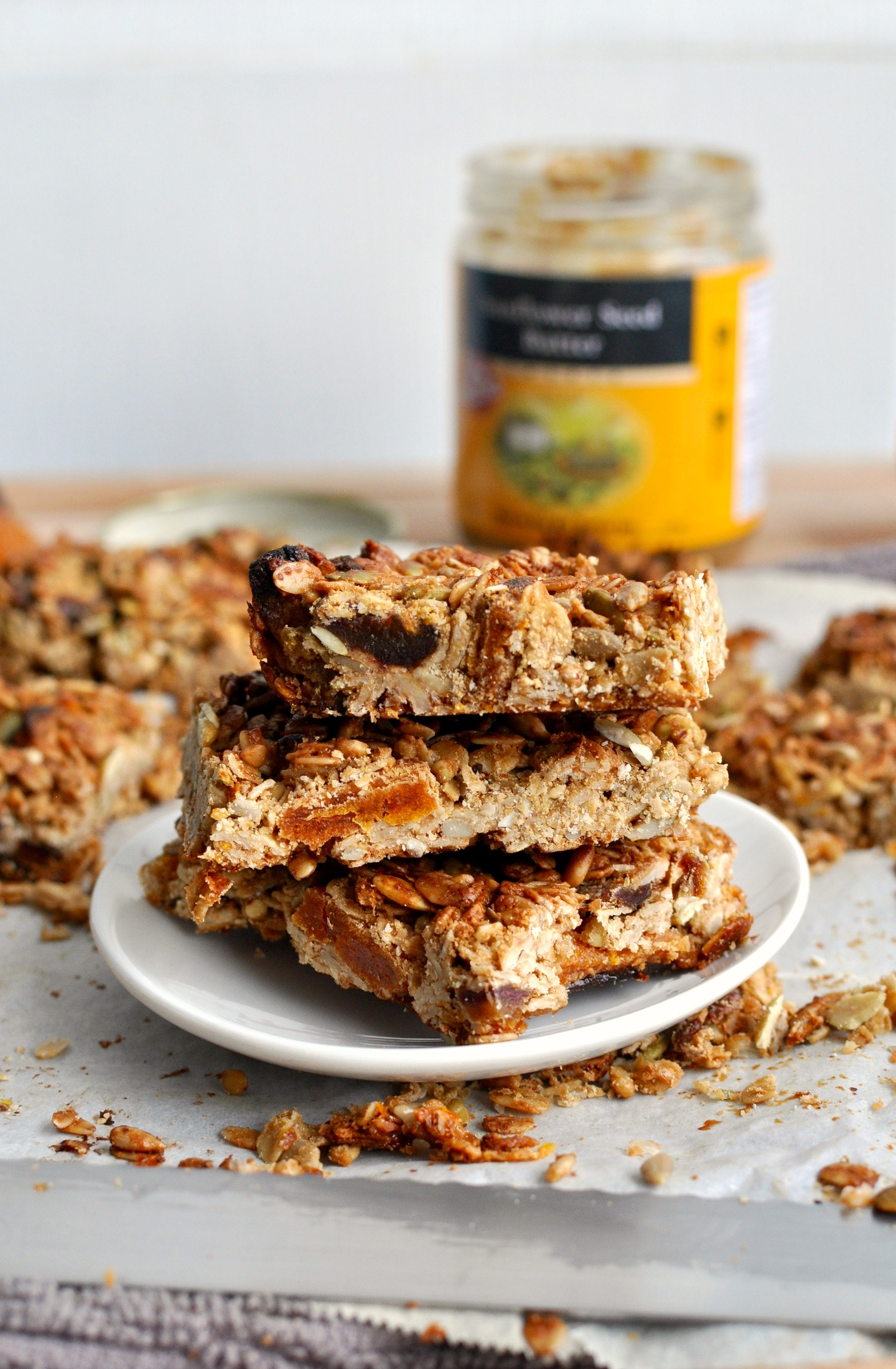 Apricot Sunflower Granola Bars Recipe