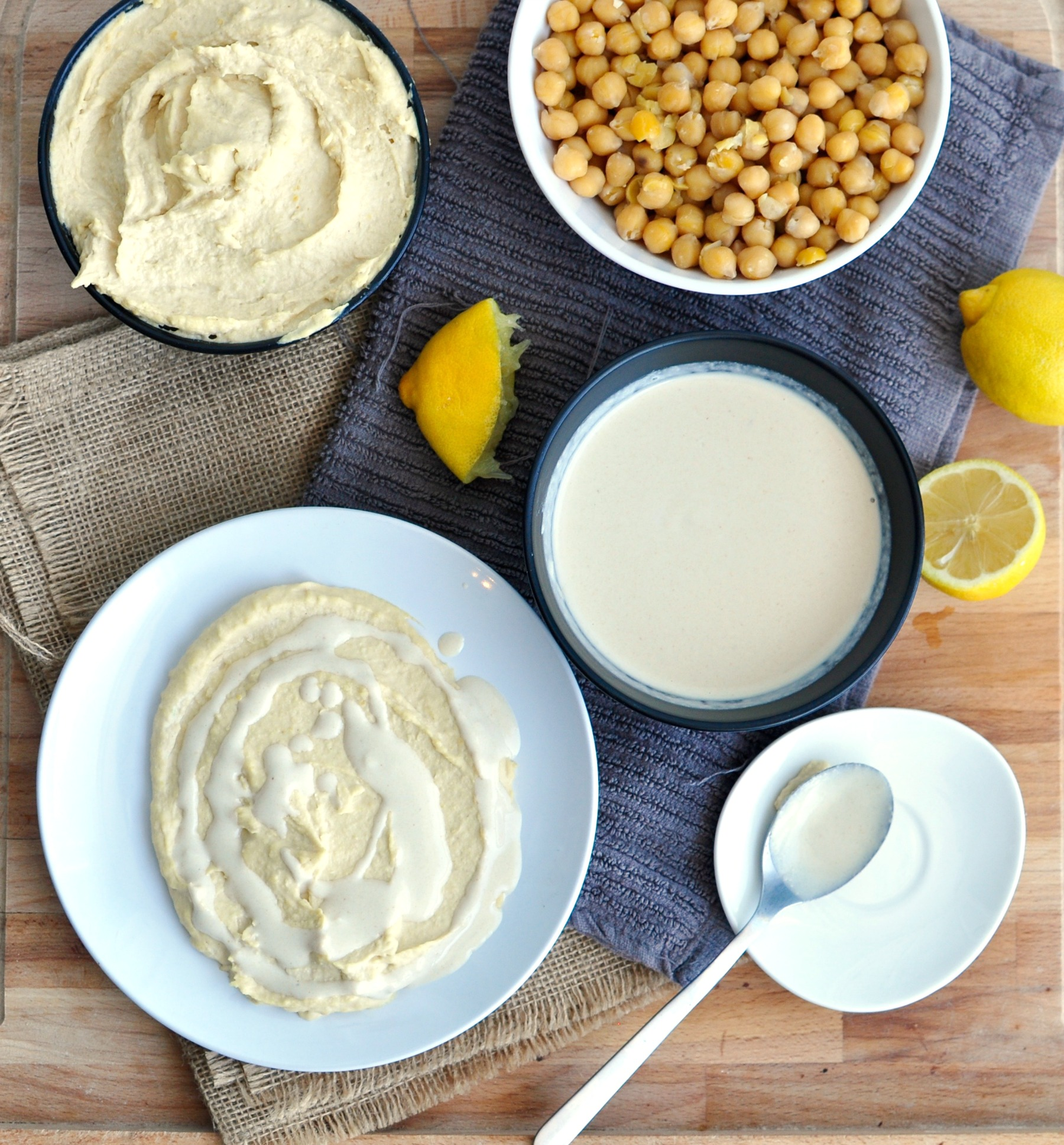 hummus and tahini