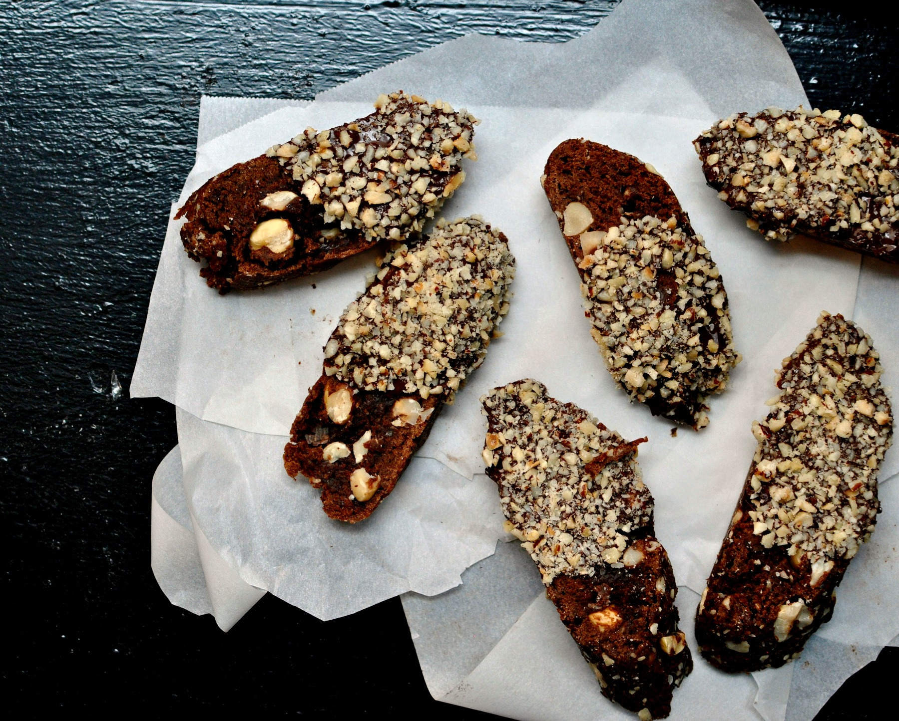 Chocolate Hazelnut Biscotti Recipe | My Second Breakfast
