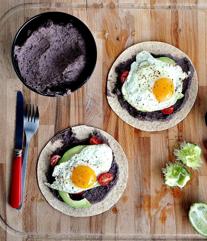 black bean breakfast taco