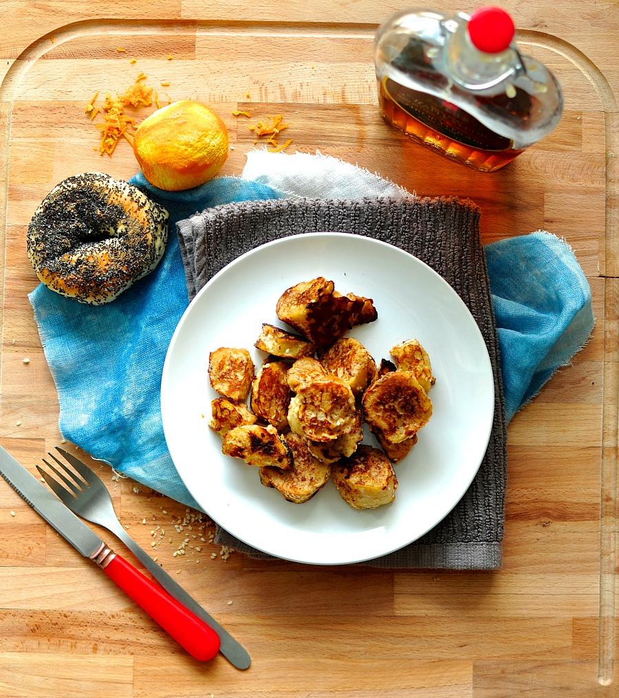 french toast bagel bites